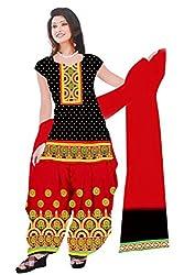 Dharmnandan Fashion Panghat Black color Cotton Woman's Fancya Dress Material