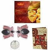 Diwali Sweets - Haldiram Soan Papdi with Beautiful Diwali Diya - Set of 2 and Diwali Card