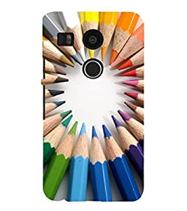 EPICCASE color pencils Mobile Back Case Cover For LG Google Nexus 5X (Designer Case)