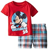 Disney Baby-Boys Mickey Plaid Short Set