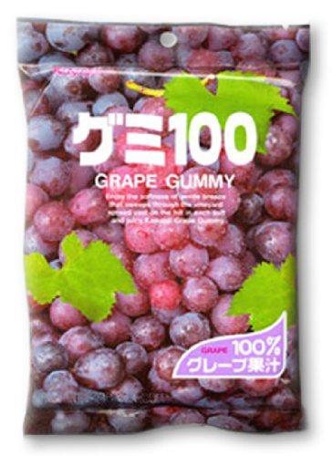 Japanese Fruit Gummy Candy from Kasugai - Grape - 107g (Kasugai Fruit Gummy Candy compare prices)