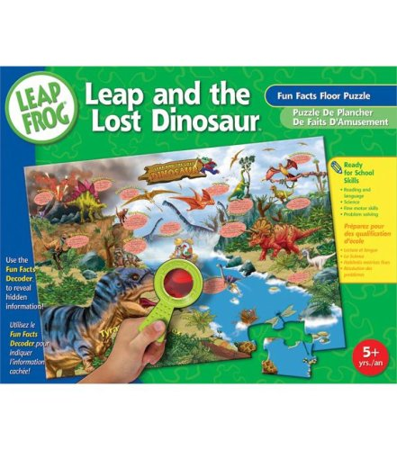 Cheap Fun Leap Frog Floor Puzzle 48pc-Dinosaur Fun Facts (B000I1J0DO)