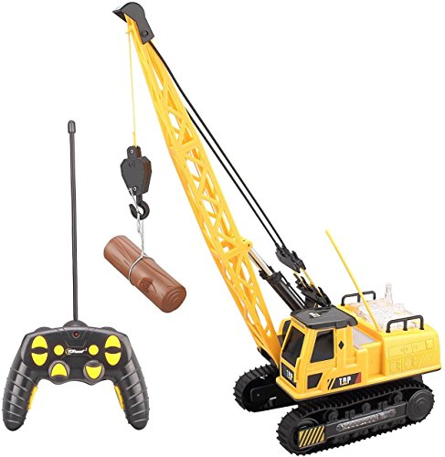 Top Race 12 Channel Remote Control Crane, Battery Powered Radio Control Construction Crane With Lights & Sound (TR-114) (Crane Remote compare prices)