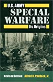 Book cover for U.S. Army Special Warfare: Its Origins