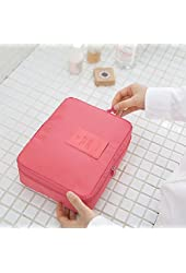Pockettrip Clear Travel BAG Cosmetic Carry Case Toiletry (Pink)