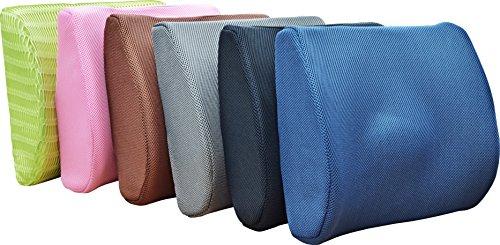 Medipaq® '3D' Mesh Orthopedic Memory Foam Lumbar Support Cushion - With Air Circulation - Reduce Back Ache, Improve Posture! BLUE