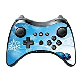 Blue Christmas Decorations Background Design Pattern Print Image Wii U Pro Controller Vinyl Decal Sticker Skin By Trendy Accessories