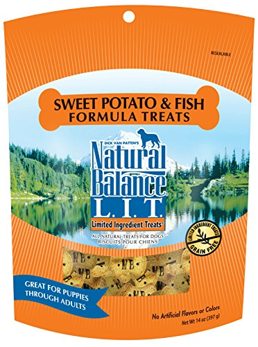 Natural Balance L.I.T. Limited Ingredient Treats Sweet Potato & Fish Formula Dry Dog Treats, 14-Ounce (Fish Potato compare prices)