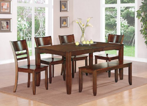 Sensational Compare Prices Lynfield 5Pc Dining Table 4 Wood Seat Chairs Ibusinesslaw Wood Chair Design Ideas Ibusinesslaworg