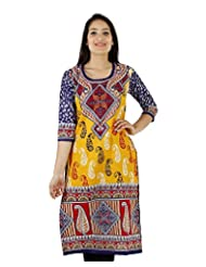 D2Nine Women's Cotton Round Neck Kurti - B0110HT4FI