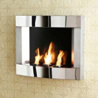 Sei Stainless Steel Wall Mount Fireplace from SEI