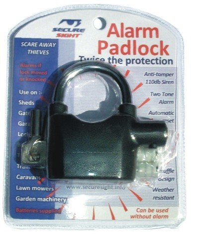 Images for High Quality Padlock with Built in anti tamper (110dB) alarm, Great for your shed, garage, back/side