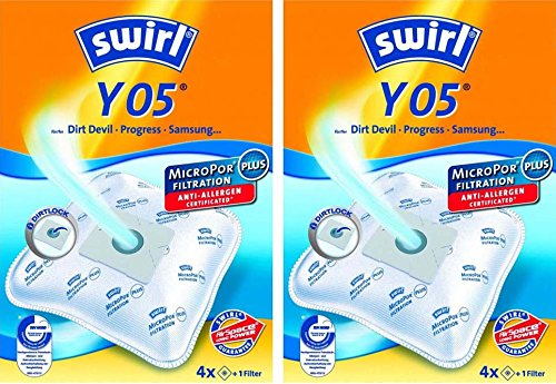 Swirl Y 50 MicroPor Plus AirSpace Staubsaugerbeutel 4er Pack