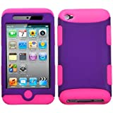 Hybrid Grape/ Pink Total Defense Faceplate Hard Plastic Protector Snap-On Cover Case For Apple iPod Touch 4 (4th Generation)