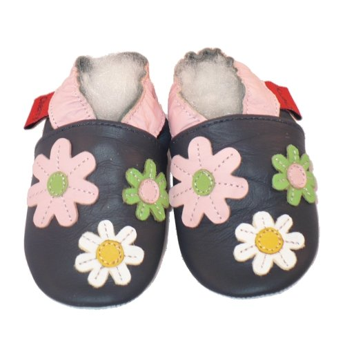 Soft Leather Baby Shoes Little Flowers 6-12 months