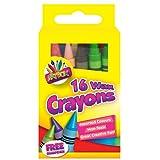 16 Wax Crayons x 1 Free Sharpner