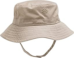 Coolibar UPF 50+ Baby Chin Strap Hat - Sun Protective (One Size - Tan)