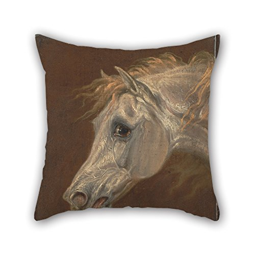 The Oil Painting Martin Theodore Ward - Head Of A Grey Arabian Horse Pillowcase Of ,18 X 18 Inches / 45 By 45 Cm Decoration,gift For Lover,bedroom,shop,kitchen,home Theater,floor (two Sides) (Shower Head 45cm compare prices)