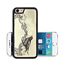 buy Liili Premium Apple Iphone 6 Iphone 6S Aluminum Snap Case Vintage Frame With Bird And Blooming Roses Image Id 18075755