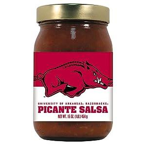 Arkansas Razorbacks NCAA Picante Salsa - 16oz by Hot Sauce Harry's