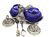AMBA HANDICRAFT oxidised antique white metal duck serving bowls handcrafted indian decorative showpiece gift for her house interior centerpiece.X125