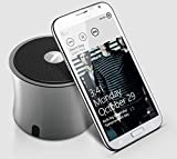 (NEW ARRIVAL 2014) SimplyVibe V3-X5PB Bluetooth Mini Ultra Portable Speaker in Black ABS Housing with Rechargeable Li Battery (works w/ iPod iPad iPhone Android Devices) - Best Sounding Mini Speaker in the Market!