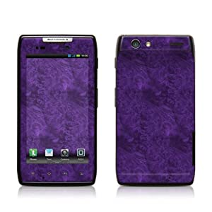 Purple Lacquer Design Protective Skin Decal Sticker for Motorola Droid Razr Cell Phone