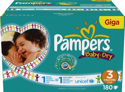 Pampers - 81322374 - Baby Dry Couches - Taille