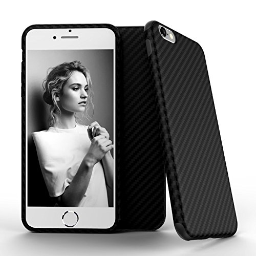 iPhone 6s Case, Roybens TPU Shockproof Case Cover with Carbon Fiber Grip Back Pattern for Apple iPhone 6 (2014) & 6s (2015), Protective Carbon Fiber Guard Black (Carbon Iphone 6 Case compare prices)