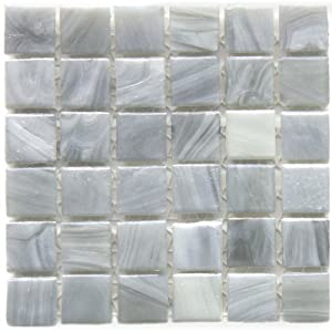 12 x 12 in monet grey recycled glass gray mosaic tile