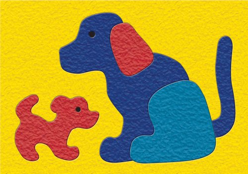 Lauri Crepe Rubber Puzzle - Dog & Puppy - 1