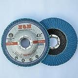 "10pcs Premium FLAP DISCS 4-1/2"" x 7/8"" Zirconia 40 grit Grinding Wheel  - Type 27"