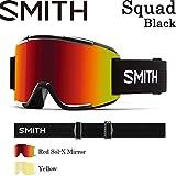 15-16 SMITH スミス ゴーグル Squad スカッド Black ミディアムフィット スノーボード ゴーグル 平面レンズ 正規品