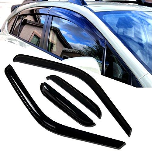 TuningPros WD-259 Tinted Smoke Out-Channel Window Visor Deflector Rain Guard 4-pc Set (06 Sonata Sun Visor compare prices)