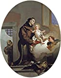 'Tiepolo Giambattista Saint Anthony Of Padua And The Christ Child 1667 69 ' Oil Painting, 18 X 23 Inch / 46 X 58 Cm ,printed On Perfect Effect Canvas ,this Vivid Art Decorative Prints On Canvas Is Perfectly Suitalbe For Nursery Decoration And Home Decor And Gifts