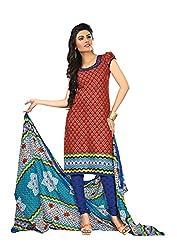 Khushbu Textile Women's Cotton Unstitched Salwar Suit (9016_Multicolor_Free Size)
