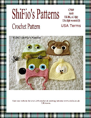 Crochet Pattern - CP169 - Adult Animal Hats - USA Terminology