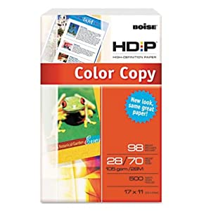 Boise BCP-2817 Boise HD:P Color Copy Paper, 11 x 17, 500/ream