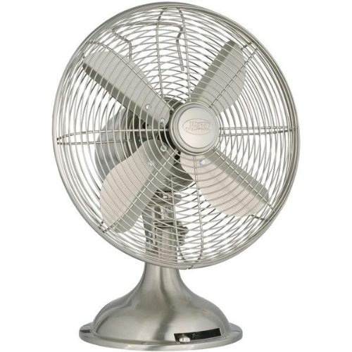 Hunter 90400 12-Inch Portable Table Fan, Brushed Nickel (Retro Fan Nickel compare prices)