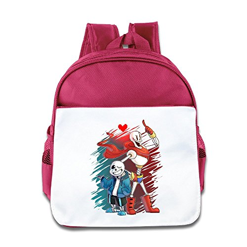 Jade Custom Cute Sans And Papyrus Boys And Girls Shoulders Bag For 1-6 Years Old Pink