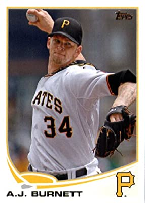 2013 Topps Baseball Card # 234 A.J. Burnett Pittsburgh Pirates