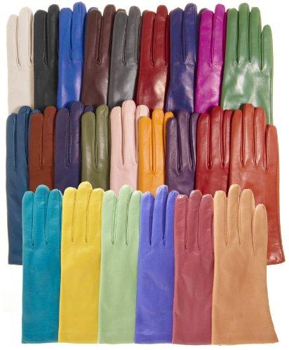 Женские кожаные осенние перчатки