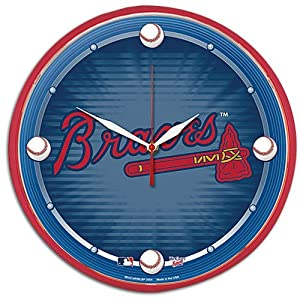 Braves WinCraft MLB Round Clock by WinCraft
