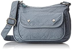 Wild Pair Top Zip Cross Body Bag, Blue, One Size