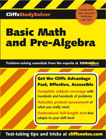 Cliffsstudysolver Basic Math And Pre-Algebra front-758582