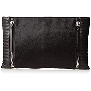 Vince Camuto Baily Clutch,Black/Black Hair Calf,One Size