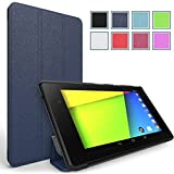 Poetic Slimline Case for Google Nexus 7 FHD 2nd Gen 2013 Android Tablet Navy Blue (3 Year Manufacturer Warranty From Poetic)