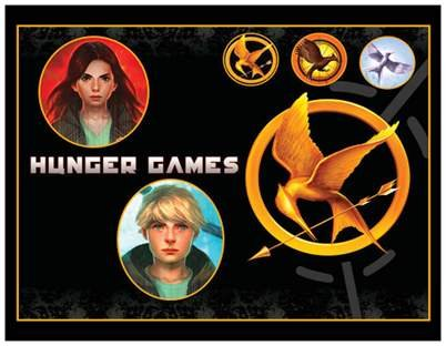 Set of 2 Postcards: THE HUNGER GAMES (KATNISS & PEETA)