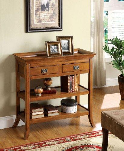 Wickenburg Antique Oak Finish Console Table front-1060108