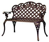 Lawn &amp; Patio - New Outdoor Patio Furniture Cast Aluminum Garden Bench